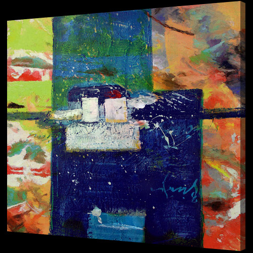 blue abstract paintings,56ABT62,MTO_1550_14685,Artist : Community Artists Group,Mixed Media