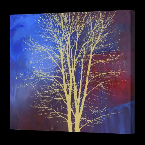 Tree Paintings,Yellow Tree Paintings,Blue Shade tree paintings ,56ABT11,MTO_1550_14656,Artist : Community Artists Group,Mixed Media