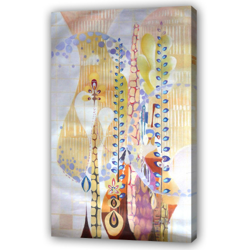 beautiful floral abstract paintings,56ABT124,MTO_1550_14746,Artist : Community Artists Group,Mixed Media