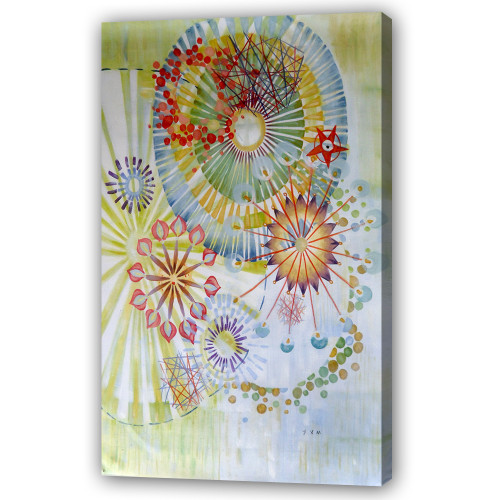beautiful floral abstract paintings,56ABT123,MTO_1550_14745,Artist : Community Artists Group,Mixed Media