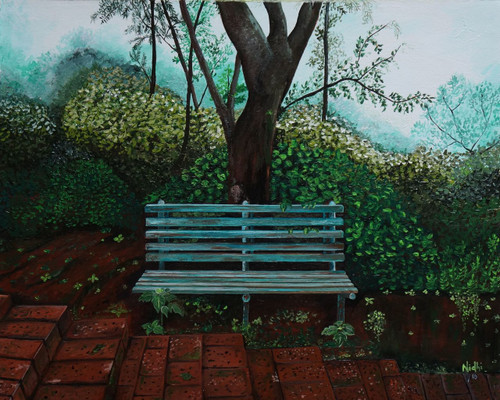 Green, Nature, Mahabaleshwar,Kitni Akeli Kitni Tanha,ART_1639_14732,Artist : NIDHI MITTAL,Acrylic
