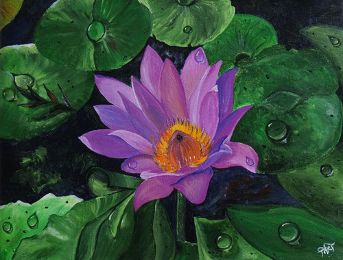 Lotus,LOTUS,ART_1639_13752,Artist : NIDHI MITTAL,Acrylic