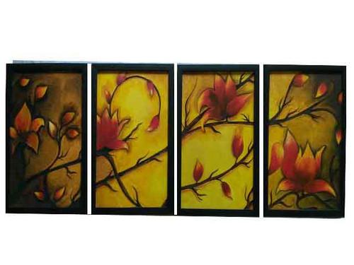 nature, flower, branches,Nosegay painting.,ART_1435_14838,Artist : Kalyani Kshatriya,Oil