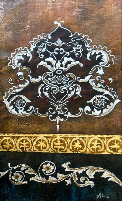 design,flower, abstract paintings,56ABT201,MTO_1550_14875,Artist : Community Artists Group,Mixed Media