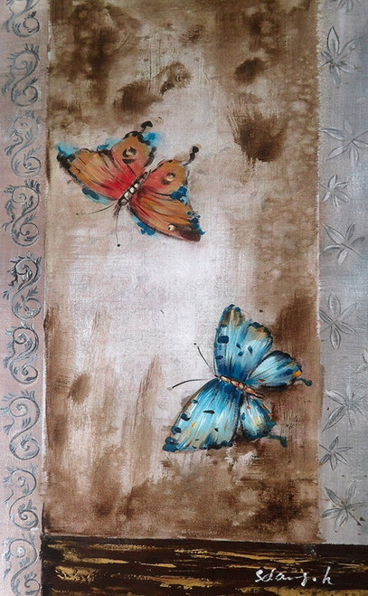butterfly paintings,colorful butterfly paintings,56ABT200,MTO_1550_14874,Artist : Community Artists Group,Mixed Media