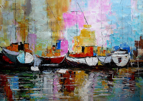 ABSTRACT,SHIP,WATER.,52ABT08,MTO_1550_14891,Artist : Community Artists Group,Mixed Media
