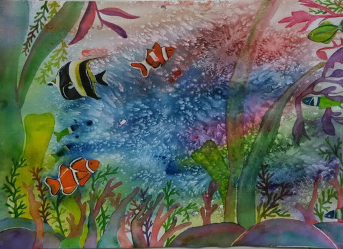 ,Aquarium,ART_1243_11233,Artist : Ujwala Chavan,Water Colors