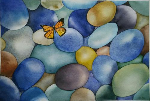 ,Pebbles,ART_1243_11232,Artist : Ujwala Chavan,Water Colors
