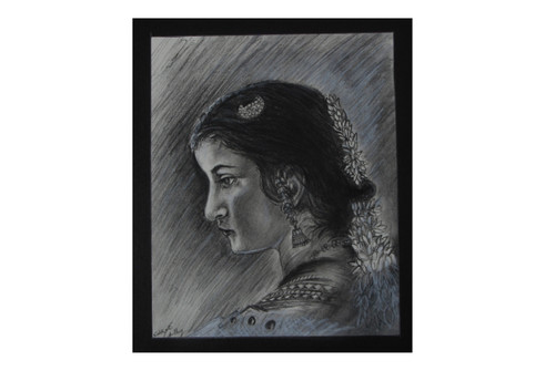 charcoal,beauty,,Dancer,ART_35_11218,Artist : Saikat Choudhury,Charcoal