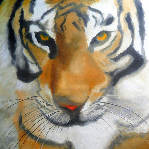 Tiger ,forest ,wildlife ,52Wholesale41,MTO_1550_14911,Artist : Community Artists Group,Mixed Media