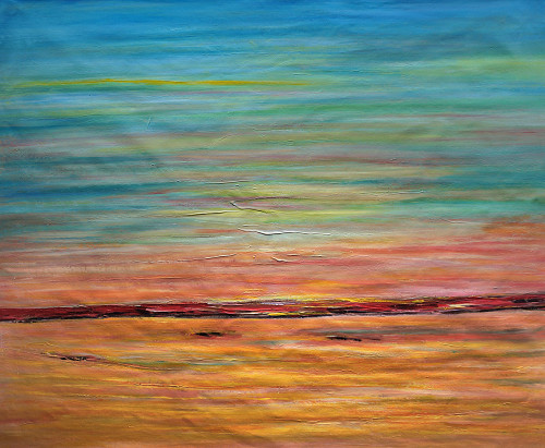 beautiful abstract paintings,abstract paintings,The Flow Abstract,MTO_1550_15003,Artist : Community Artists Group,Mixed Media