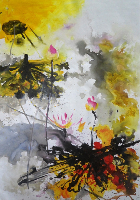 beautiful abstract paintings,56ABT213,MTO_1550_14967,Artist : Community Artists Group,Mixed Media
