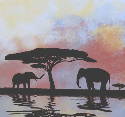 elephant paintings,56Anm24,MTO_1550_15089,Artist : Community Artists Group,Mixed Media