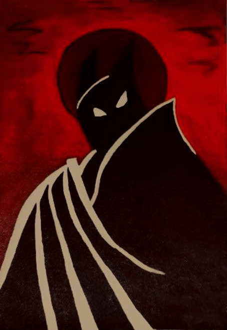 Batman Cartoon poster,Batman animated cartoon poster,ART_1755_15072,Artist : Akshata  Sawant,Acrylic