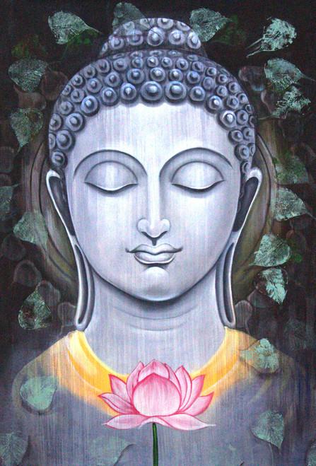 Buddha ,Buddha with lotus,ART_1522_15147,Artist : Ram Achal,Acrylic