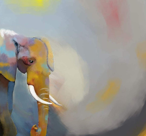 elephant paintings,56Anm88,MTO_1550_15168,Artist : Community Artists Group,Mixed Media