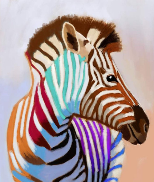 zebra paintings,56Anm82,MTO_1550_15161,Artist : Community Artists Group,Mixed Media