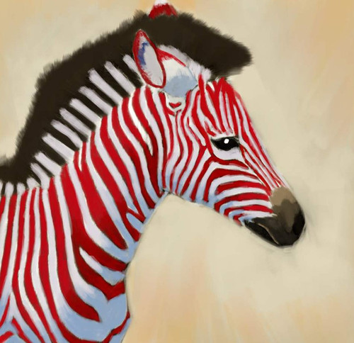 Zebra paintings,56Anm80,MTO_1550_15153,Artist : Community Artists Group,Mixed Media