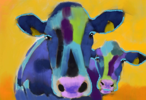 cow paintings,56Anm77,MTO_1550_15136,Artist : Community Artists Group,Mixed Media