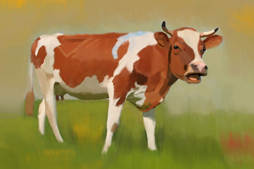 cow paintings,56Anm71,MTO_1550_15128,Artist : Community Artists Group,Mixed Media