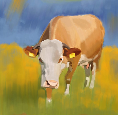 cow paintings,56Anm70,MTO_1550_15127,Artist : Community Artists Group,Mixed Media