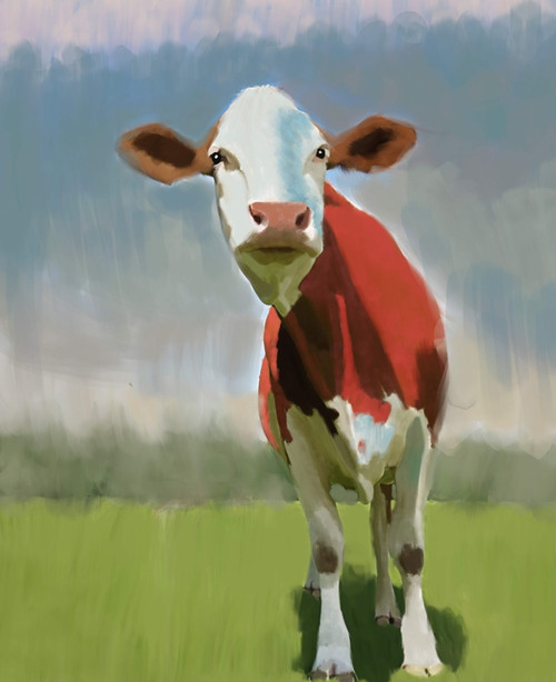 cow paintings,56Anm69,MTO_1550_15126,Artist : Community Artists Group,Mixed Media