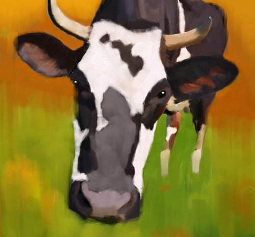 cow paintings,56Anm68,MTO_1550_15125,Artist : Community Artists Group,Mixed Media