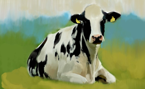 cow paintings,56Anm67,MTO_1550_15124,Artist : Community Artists Group,Mixed Media