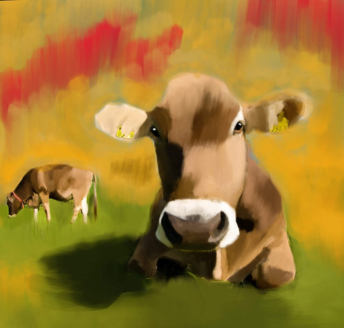 cow paintings,56Anm66,MTO_1550_15123,Artist : Community Artists Group,Mixed Media