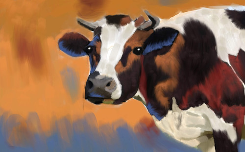 cow paintings,56Anm64,MTO_1550_15121,Artist : Community Artists Group,Mixed Media