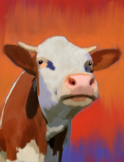 cow paintings,56Anm62,MTO_1550_15119,Artist : Community Artists Group,Mixed Media