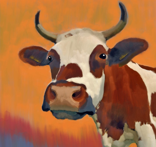 cow paintings,56Anm61,MTO_1550_15118,Artist : Community Artists Group,Mixed Media