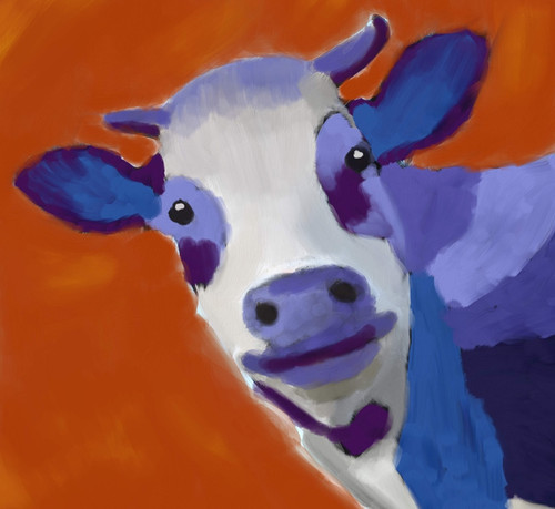 cow paintings,56Anm60,MTO_1550_15109,Artist : Community Artists Group,Mixed Media
