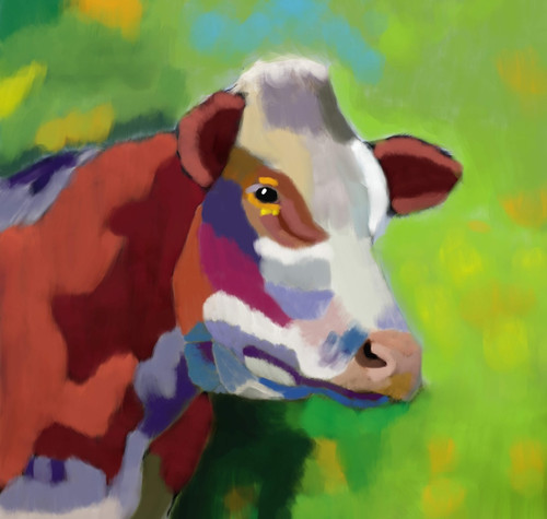 Cow paintings,56Anm58,MTO_1550_15107,Artist : Community Artists Group,Mixed Media