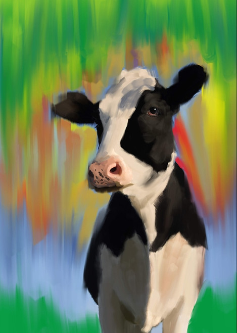 cow paintings,56Anm57,MTO_1550_15106,Artist : Community Artists Group,Mixed Media
