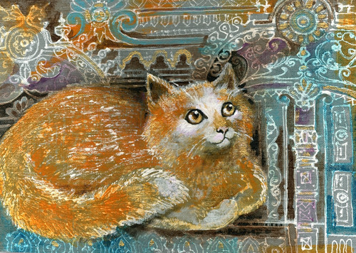 cat paintings,56Anm149,MTO_1550_15225,Artist : Community Artists Group,Mixed Media