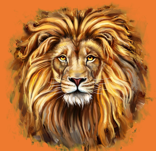 lion paintings,56Anm109,MTO_1550_15206,Artist : Community Artists Group,Mixed Media