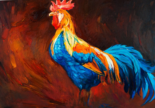 hen paintings,56Anm108,MTO_1550_15205,Artist : Community Artists Group,Mixed Media