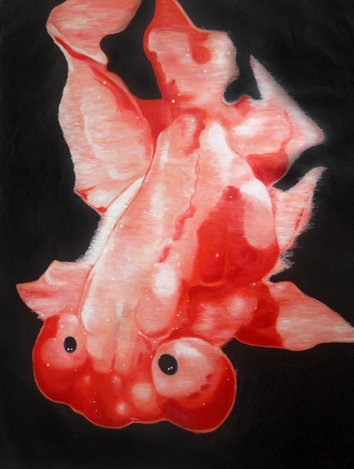 fish paintings,56Anm105,MTO_1550_15202,Artist : Community Artists Group,Mixed Media