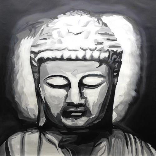 buddha paintings,56Buddha13,MTO_1550_15242,Artist : Community Artists Group,Mixed Media