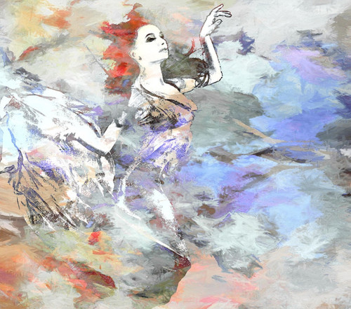 lady dancing paintings ,56Figure33,MTO_1550_15418,Artist : Community Artists Group,Mixed Media
