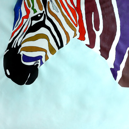 zebra paintings,56Dec74,MTO_1550_15367,Artist : Community Artists Group,Mixed Media