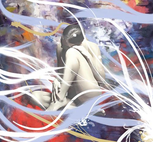 nude paintings,nude lady paintings,56Figure84,MTO_1550_15519,Artist : Community Artists Group,Mixed Media