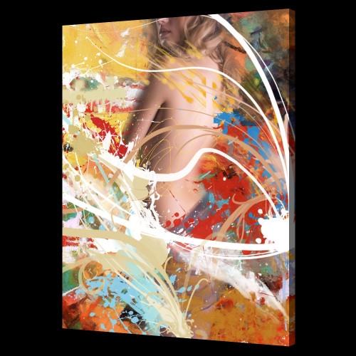 nude lady paintings,sexy paintings,56Figure83,MTO_1550_15513,Artist : Community Artists Group,Mixed Media