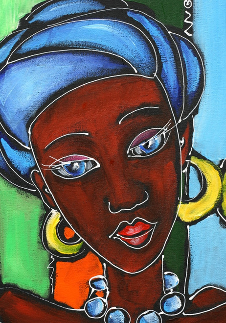 African paintings,56Figure140,MTO_1550_15571,Artist : Community Artists Group,Mixed Media