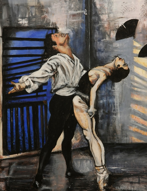 romance paintings,56Figure138,MTO_1550_15553,Artist : Community Artists Group,Mixed Media