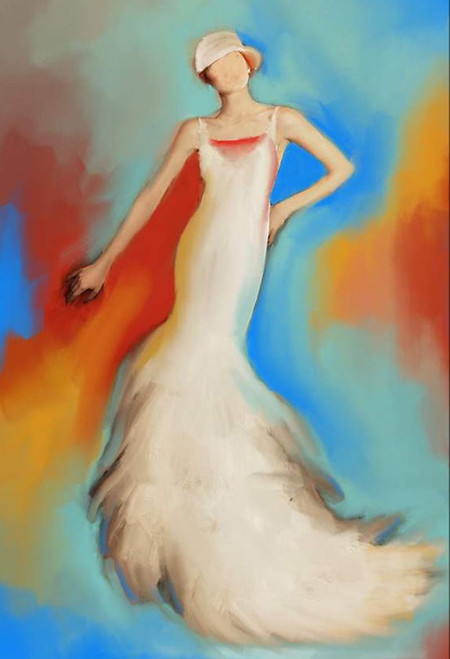 lady paintings,56Figure102,MTO_1550_15536,Artist : Community Artists Group,Mixed Media
