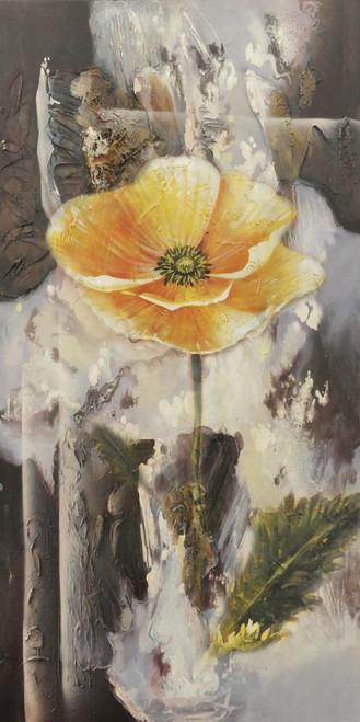 Pristine2 - 16in X 32in,28Flower78_1632,Black, Dark Shades,40X80 Size,Flowers, Animals, Nature Art Canvas Painting