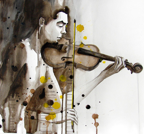 violin paintings,man with violin paintings,music paintings,music passion paintings,passion paintings,peace of joy paintings,56Figure219,MTO_1550_15696,Artist : Community Artists Group,Mixed Media