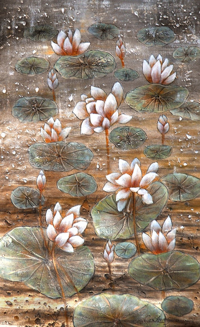 beautiful flower  paintings,floral paintings,56Flower18,MTO_1550_15777,Artist : Community Artists Group,Mixed Media